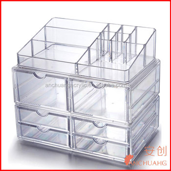6 Drawers Large Stackable Acrylic Makeup Organizer with Cosmetic Storage Cases