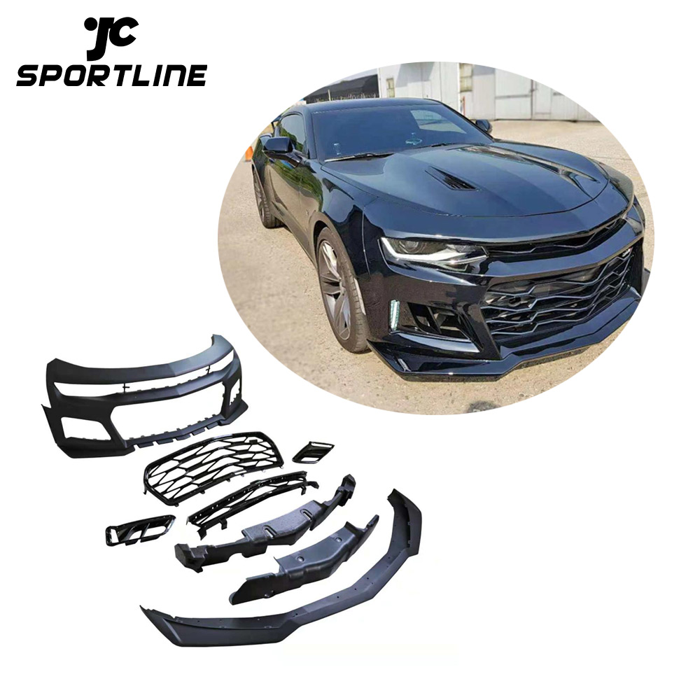 1LE Style PP Car Body Kits Frontstoßstange für Chevrolet Camaro 2017 mit LED
