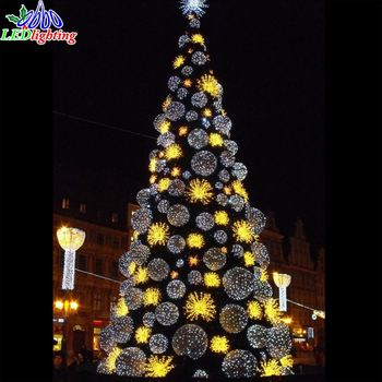 12M tall big commercial artificial Christmas tree with colorful led lights - 12m Tall Big Commercial Artificial Christmas Tree With Colorful Led