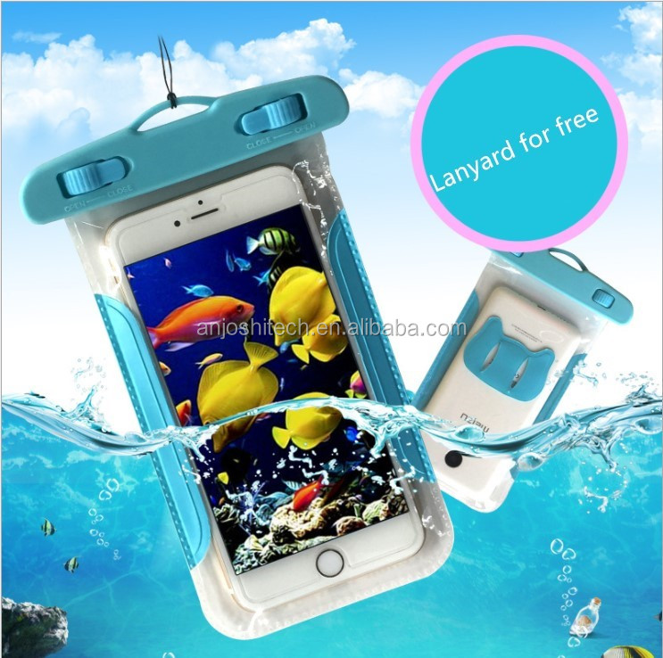 Mobile accessories PVC waterproof cell phone case for Phone