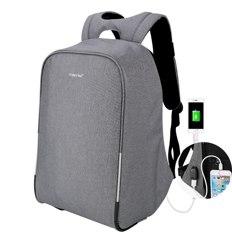a0a6915cde 2019 New arrival Tigernu Anti-theft men bag Waterproof Laptop Backpack with  usb charging port bag men backpack for 15.6inch.
