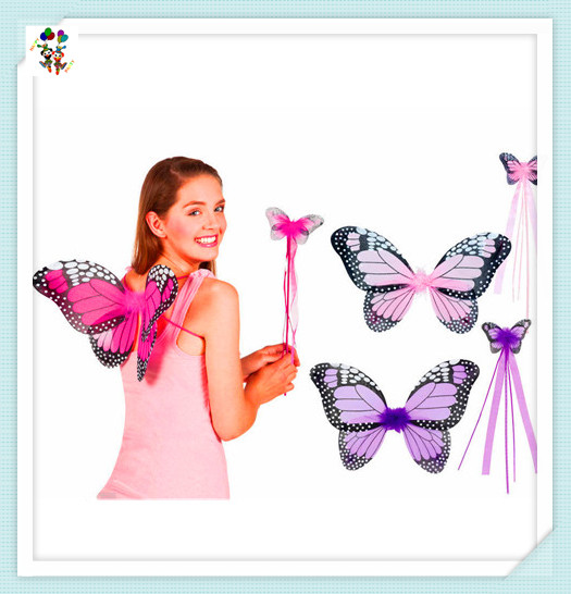 Cheap Party Fancy Dress Butterfly Wings with Wand HPC-2925