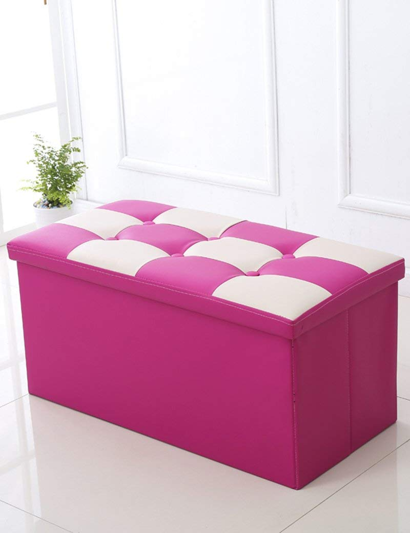 ZHANGRONG- Multi-function Storage Stool Storage Stool Rectangular Sofa Stool Bed Stool To Take People Storage Box Storage Box Sofa Stool (Color Optional) (Color : F)