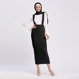 Fashion warm style cotton maxi winter suspender skirts 2019
