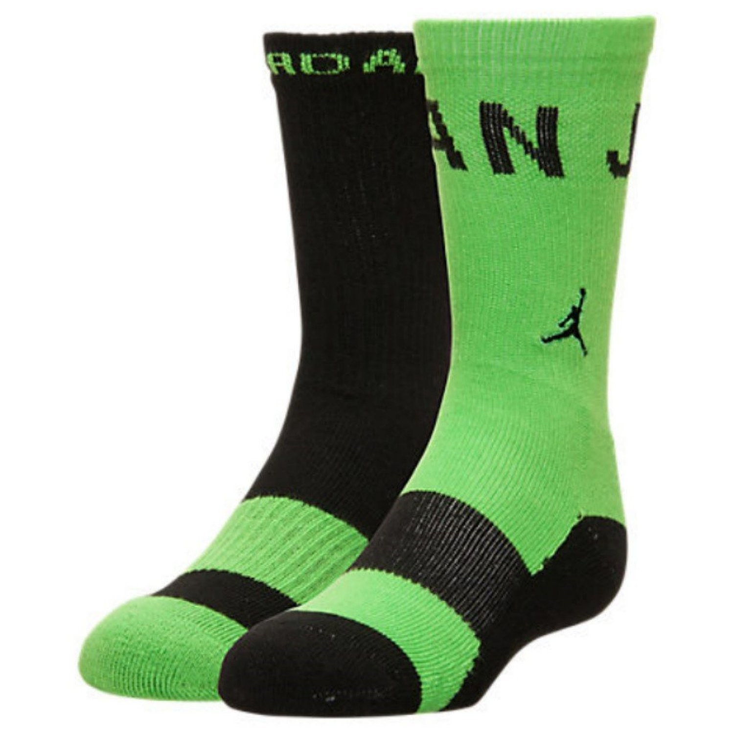 ... Shoes Socks Mud · NIKE Kids' Jordan Two-Tone 2-Pack Crew Socks  (Electro-Green
