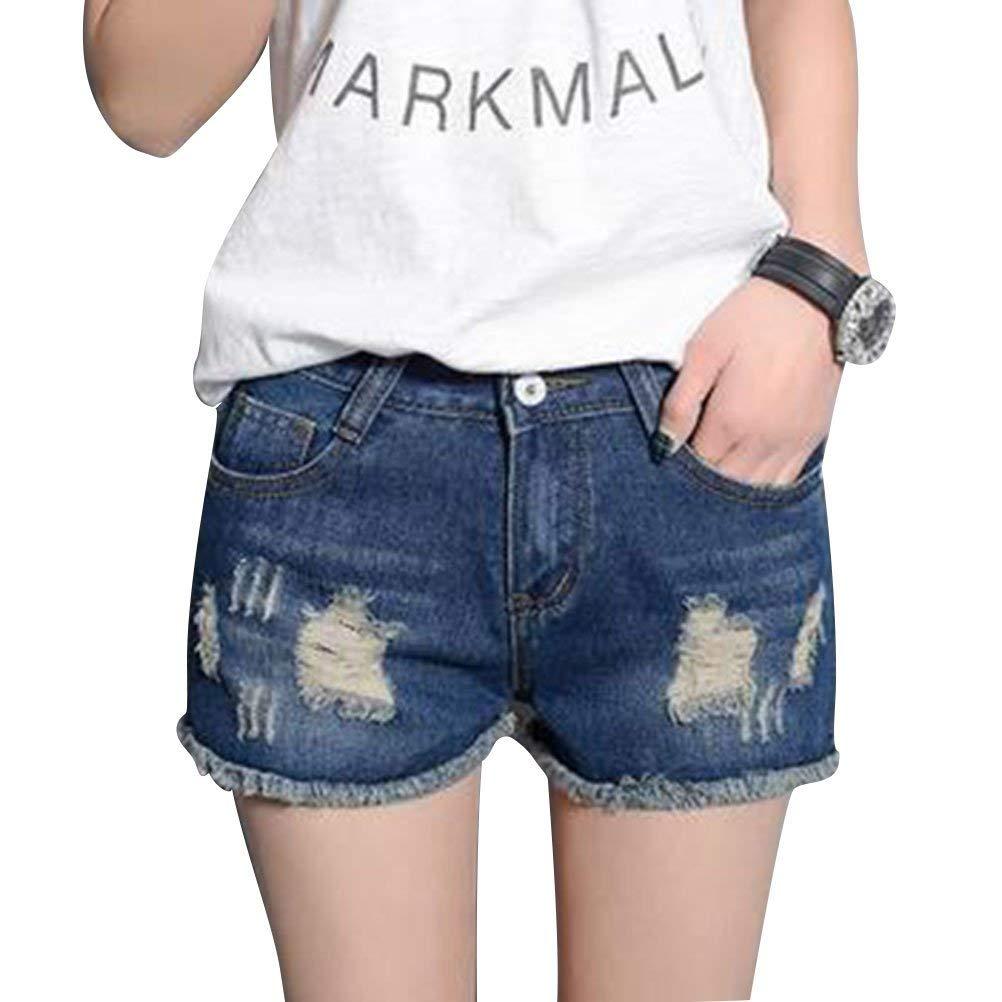7978c8179f82b Get Quotations · SCX Women Fashion Denim Jean Shorts Stretchy Regular  Juniors Body Enhancing Shorts