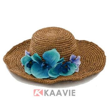 5a09f94bbc3dc 3d Flor Natural Tejida Paja Rafia Sombrero Para Dama - Buy Hawaii ...