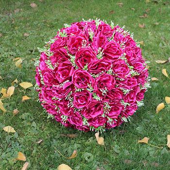 Stocking Design Silk Flower Kissing Ball For Wedding Flowers For