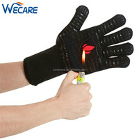 Premium Antiskid Aramid Fireproof Heat Massage Silicone Oven Mitt Gloves