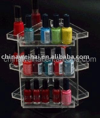 nail polish shelf acrylic