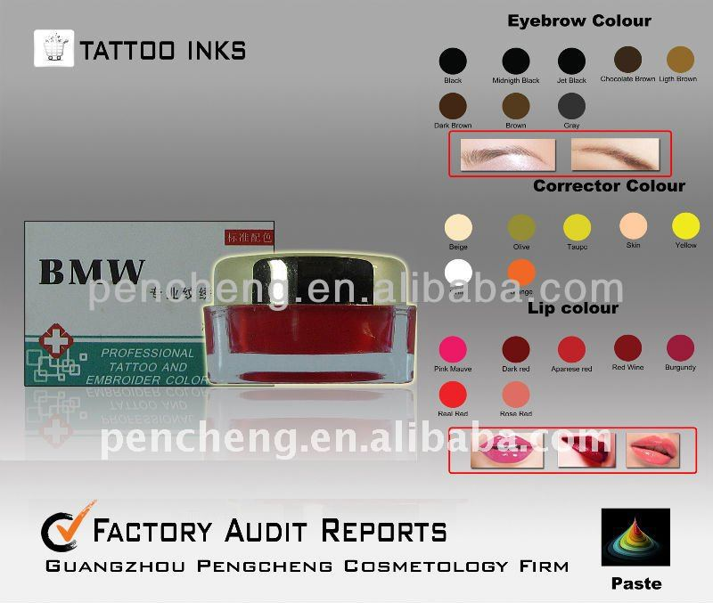 Permanent Make Up Tattoo Ink Cosmetic -10gram/pc emulsion tattoo pigment