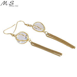 Dropshipping Costume Jewelry Earrings Fashion Big Crystal Stone Bijouterie Earring Sample