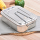 Stainless steel 304 lunch boxes bento, classic design homio lunch boxes, easy wash lunch boxes for school
