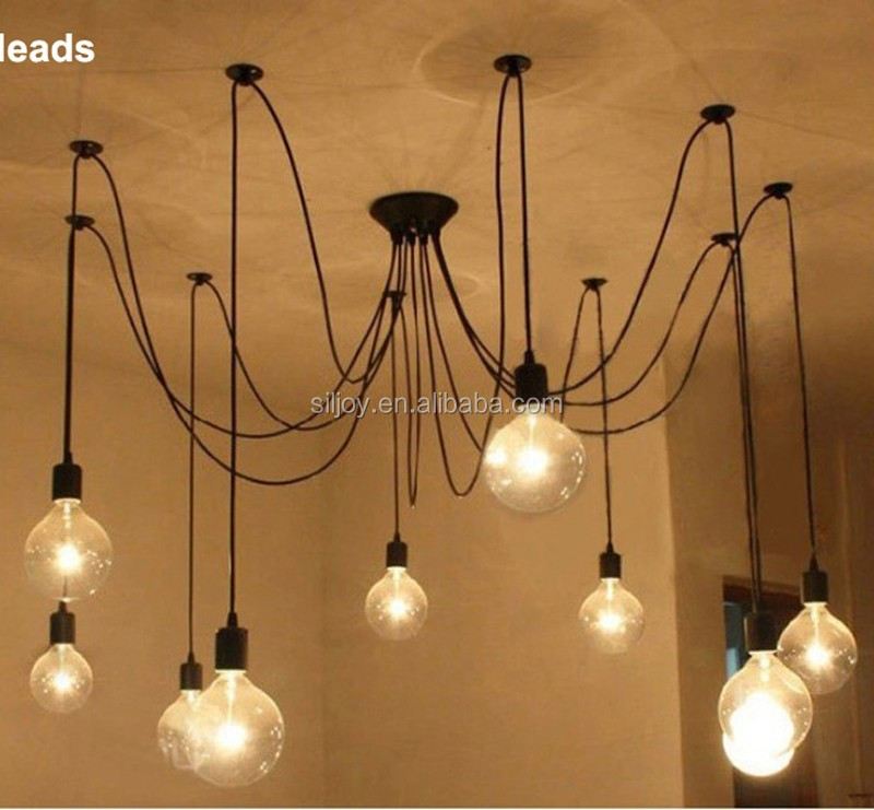 edison chandelier clsico vintage antiguo luz araa araa saln comedor dormitorio de la lmpara