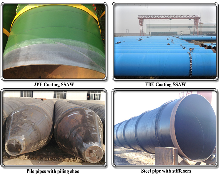 API 5L Manufacturer high pressure large diameter ssaw spiral welded steel pipe for hydropower station