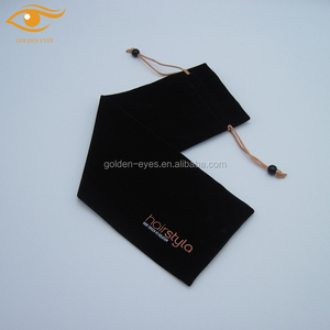 Luxury Hair Extensions Velvet Drawstring Pouch Bag
