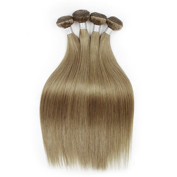 Natural looking 16inch unprocessed ash blonde human hair weaves for black women