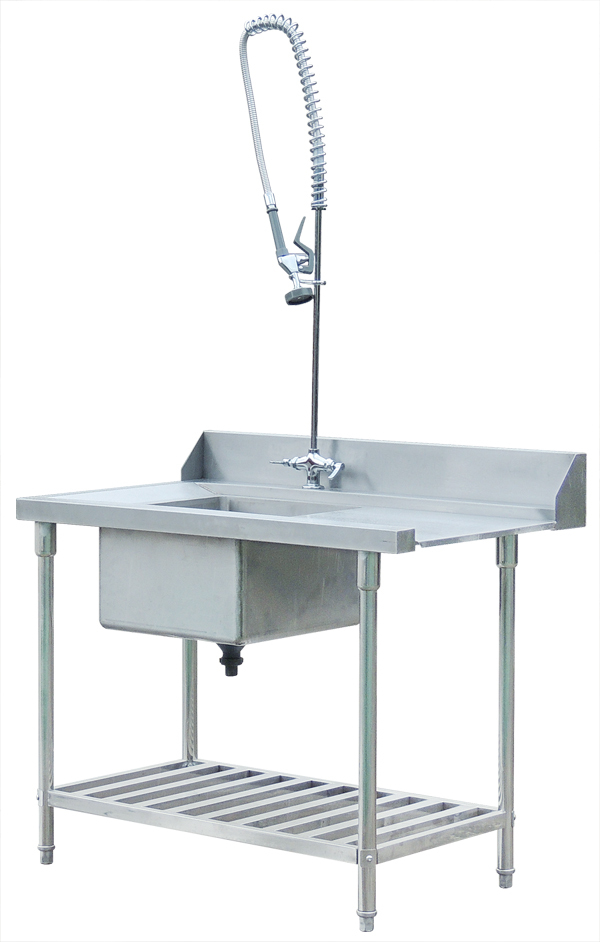 Stainless Steel Dish Washing Work Sink Table For Dishwasher