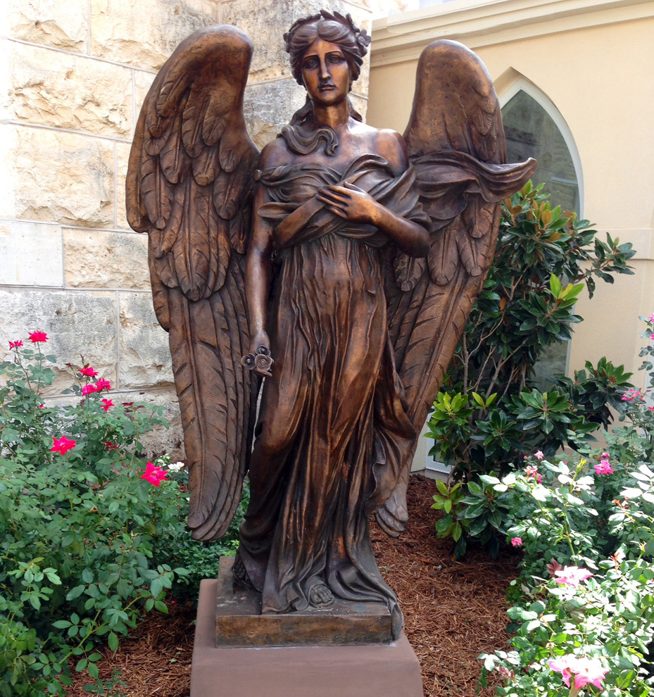 high quality bronze winged angel statue