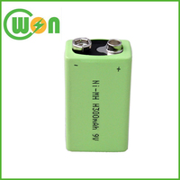 NIMH 9V 6F22 Battery 300mAh 9V Rechargeable Battery
