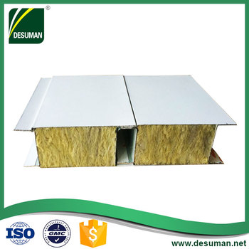 DESUMAN cheapest shipping container fireproof styrofoam roof rock wool sandwich panel for truck body