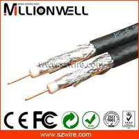 Dual RG6 High Shield 75 Ohm Coaxial Cable factory price