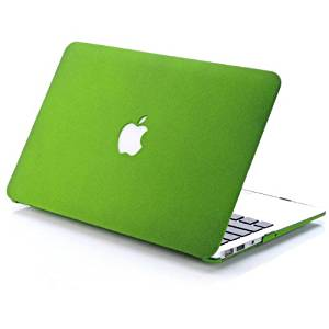 "HQF Snap on Cover Quicksand matte Hard Shell Case for Apple 13-inch MacBook Pro 13.3"" A1278 [No Retina Display and Have CD-ROM](Green)"