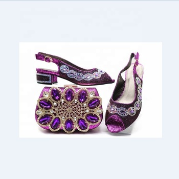 AB5815  women high heels sandals and purses bag set  italian women shoes and bag to match