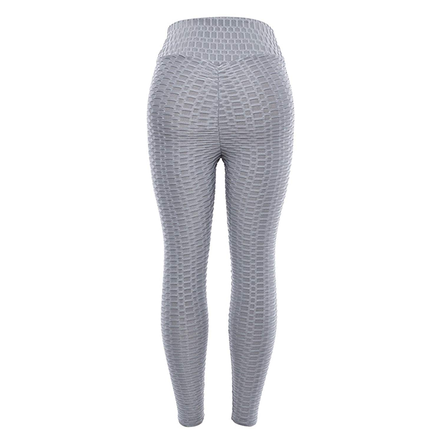 dc3f8790d Get Quotations · YGDRE Womens High Waist Ruched Butt Yoga Leggings Butt  Lift Ruched Sport Capris Pants