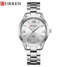 Часы CURREN женские, стальные, кварцевые, классические(Китай)