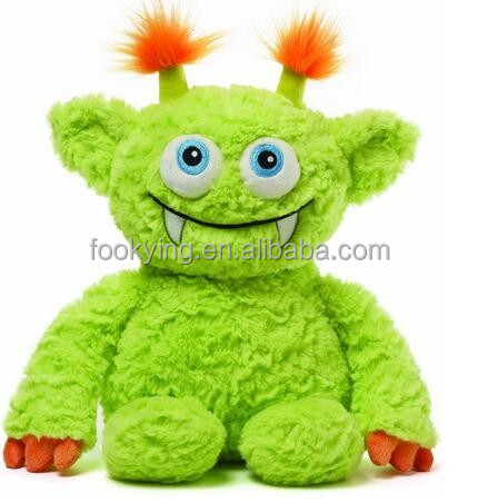 ICTI tested super soft lovely smiling plush monster with embroider eyes