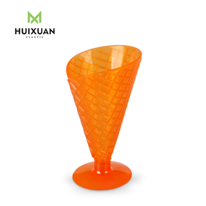Small 6oz custom color novelty plastic ice cream cone cup for sale