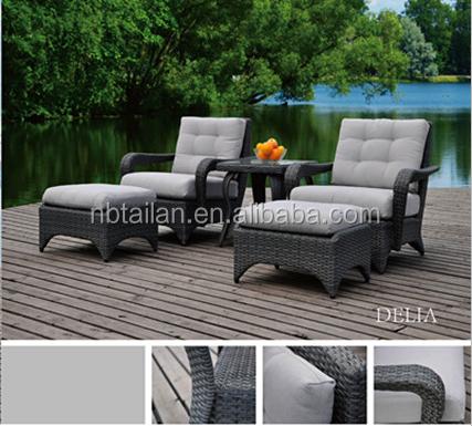 Cómodo de lujo sintético muebles de jardín de mimbre al aire libre ...