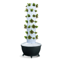 6x6 Hydroponics Tower Garden Planting System With 36 Planters Vertical Soiless Growing