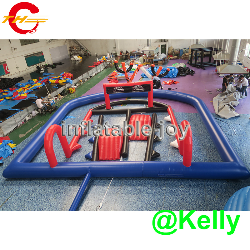 10x10x2mH free air shipping inflatable go kart race track, inflatable air track for car race, inflatable race track