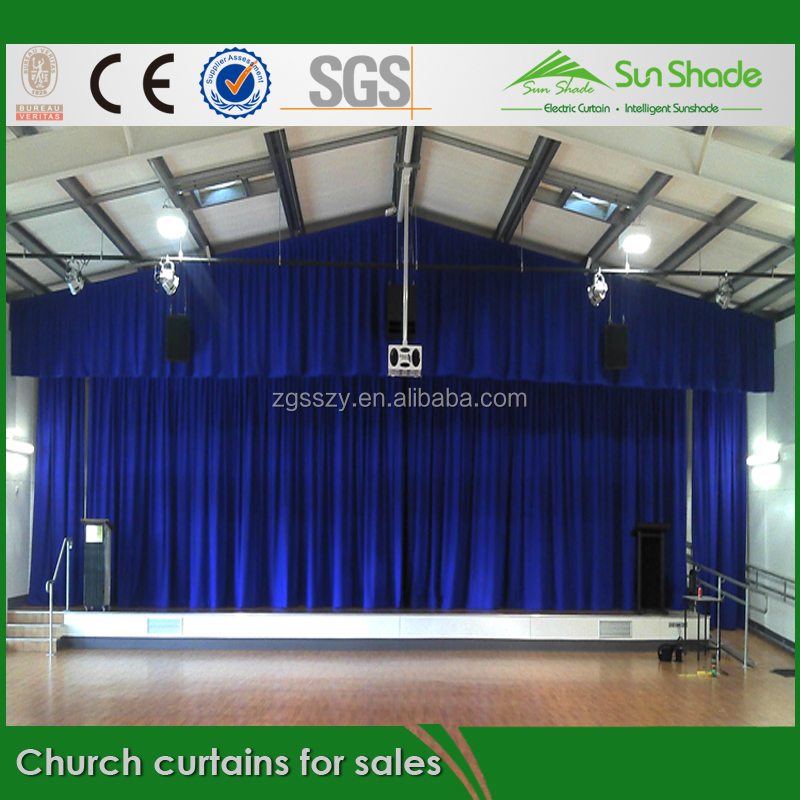 Black or red Automatic /Manual Church curtains for sales