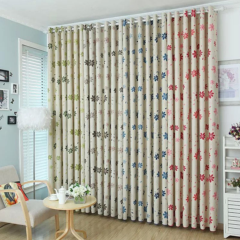Quality Flower Curtain Shalian <font><b>Rustic</b></font> 4 Color Flowers Patterns Floweryness Graphic Cut Flower Curtains Tulle
