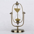 Metal rotating sand timer, 1 hour brass hourglass timer