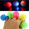 Lovely led bumpy Halloween led ring, 7 colors light glowing finger flash ring