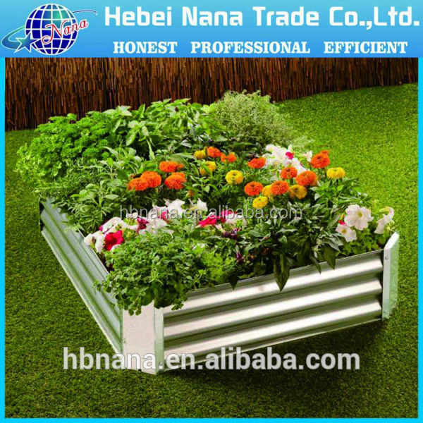 Raised bed / green garden raised bed / Zinc coated metal garden pot