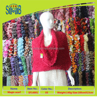 shanghai smb men scarf manufacturer wholesale oeko tex new fashion knitting head scarf, low price magic scarf