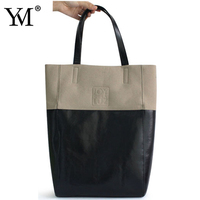2015 New Wholesale promotion custom fashion shopping PU women tote bag for lady
