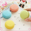 Low price custom logo Most popular 2017 trends erasers for kids ,eco-friendly Macaroon design rubber eraser
