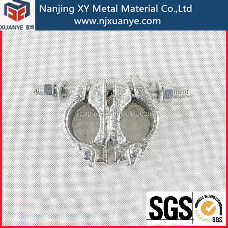 Stainless Steel Pipe clamp scaffolding swivel coupler BS1139 scaffold couplers