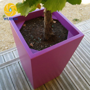 Outdoor Cast Iron Powder Coated Garden Best Pink Plant Containers Flalt Balcony Bulk Flower pots
