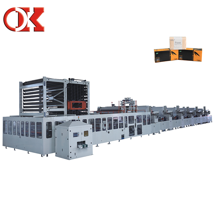High Automatic Degree Facial Tissue V Fold Towel Paper Machine China Supplier