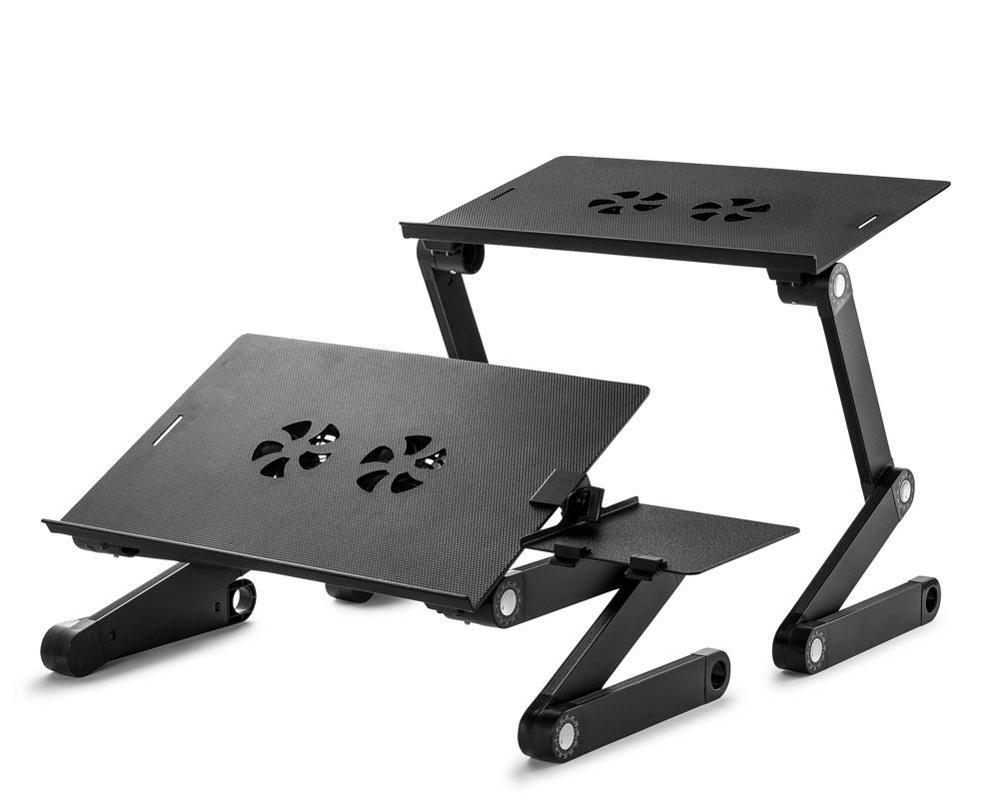 Adjustable Aluminum Ergonomic <strong>Folding</strong> <strong>Laptop</strong> stand with Cooling Fans