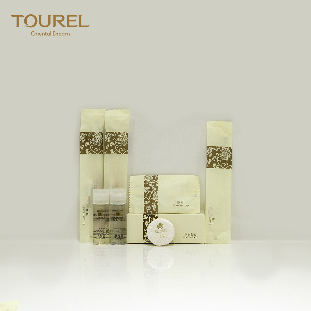 Wholesale eco friendly organic biodegradable luxury hotel supplies type toiletries amenities set