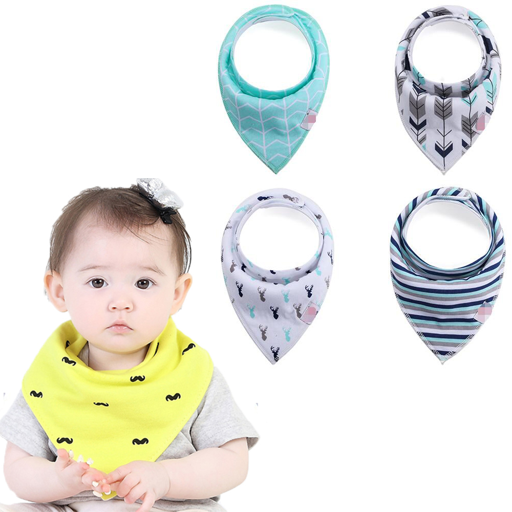 NEW hot! Soft Bandana with pocket for feeding Cute Cartoon Pattern cotton adult baby bib
