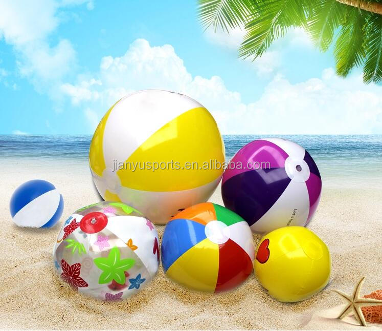 Wholesale 40 cm led Inflatable PVC Beach Ball in water playing